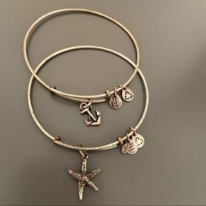 Alex and Ani Silver Starfish Anchor Bracelet